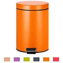 Zhen Guo Small Step Trash Can With Lid 5l Mini Round Recycling Trash Bin Steel Garbage Can Container With Inner Bucket And Office Colors Trash Can Trash Bins