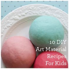 "There's something very special about making your own art materials. Here are some of our favorite art material ""recipes"" for kids. They're safe, inexpensive, easy…and fun to make!"