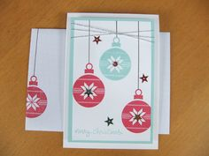 Mo Rootes - mo@crafty-rootes.co.uk - Stampin Up Lots of Joy stamp set. Colors are Pool Party and Rose Red