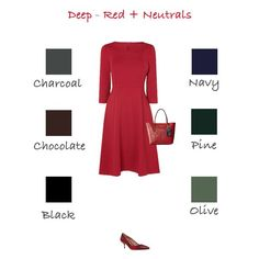 How to wear red for deep colouring