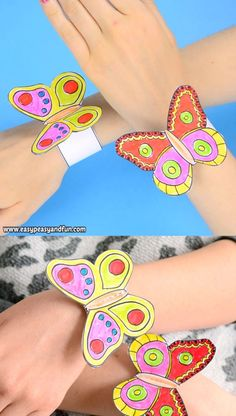 Spring is the time for butterflies and if you are looking for a fun after school (or school) activity, why not make these butterfly paper bracelets for kids! butterfly crafts Butterfly Paper Bracelets for Kids Paper Crafts For Kids, Paper Crafting, Diy For Kids, Fun Crafts, Arts And Crafts, Craft Kids, Easter Crafts, 5 Year Old Crafts, Back To School Crafts For Kids