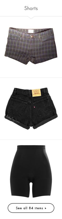 """""""Shorts"""" by thewhiteraven23 ❤ liked on Polyvore featuring shorts, bottoms, sexy shorts, preppy shorts, sexy short jean shorts, short jean shorts, plaid shorts, pants, women's clothing and dark olive"""
