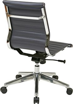 Armless Grey Eco Leather Chair $212 - Free Shipping