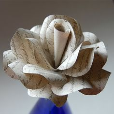 As promised, here is a roundup from around the web of some gorgeous paper flowers!  All of these would be great for weddings, home decor or...
