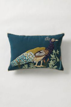 peacock pillow. must have!