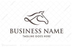 Logo for sale: Simple Horse Head Logo Simple horse head logo using calligraphy brush technique for equestrian business. equine horse riding racing knight horseracing farm breed pony sports horseback logo logos