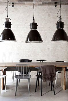 Restaurant Hst Kopenhagen in Denmark #vintage #industrial #lights #interiors #wood #restaurant #modern
