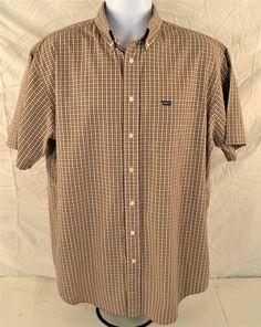 Daniel Cremieux Men's Size Large Short Sleeve 100% Cotton Multicolored Shirt
