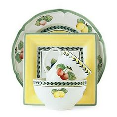 """Villeroy & Boch """"French Garden"""" Dinnerware from Bloomingdales.com.  The mix-n-match style being represented!"""