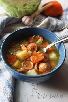 Суп с сосисками и капустой Thai Red Curry, Ethnic Recipes, Food, Essen, Meals, Yemek, Eten