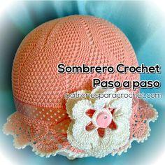 Sombrero Panamá Paso a Paso para tejer con crochet                                                                                                                                                      Más