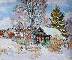 A beginning of spring  --------------------------------------------------------------------------------    Artist     Valeri Izumrudov