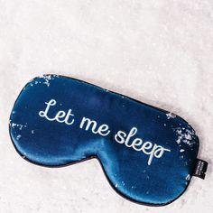 silk eyemask let me sleep in snow moonlit skincare Silk Eye Mask, Leather Apron, Beard Lover, Mulberry Silk, Sleep Mask, Mask Design, Sewing Clothes, Sensitive Skin, Let It Be