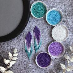Diy earrings 269230883962760164 - Purple turquoise beaded earrings Source by Pokokoshop Beaded Earrings Native, Beaded Earrings Patterns, Seed Bead Earrings, Beading Patterns, Seed Beads, Beaded Jewelry, Dangle Earrings, Native Beadwork, Hama Beads