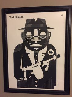 This bad ass 19x25 print is one of my favorite snags. The print is by Little Friends of Printmaking!