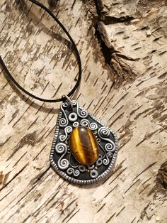 Sekhmet Tigers Eye Pendant Gold and Silver Color Witchy Witchcraft Pagan Egyptian Wearable Art Unique Unisex Jewelry Special Gift Wiccan Sister Gifts, Gifts For Wife, Gifts For Her, Photo Jewelry, Jewelry Art, Magic Crafts, Art Crafts, Wiccan, Witchcraft