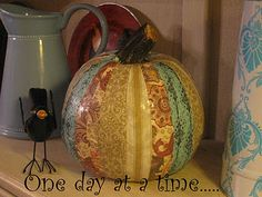 One day at a time.....: Mod Podge Pumpkin