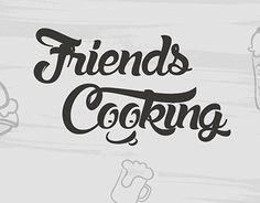 "Check out new work on my @Behance portfolio: ""Logo ""Friends cooking"""" http://on.be.net/1EU2pEp"