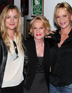 And then there's the trifecta. Dakota landed the coveted role of Anastasia Steele in Fifty Shades of Grey, following in the footsteps of her mother, Melanie, who earned an Oscar nom for Working Girl, and her maternal grandmother, Tippi, who starred in Alfred Hitchcock's The Birds.