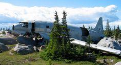 Miss Piggy airplane wreck near Churchill, Manitoba, Canada.