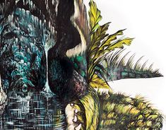 Ink painting, size 50 x 75 cm Ink Painting, New Work, Cave, Behance, Paintings, Gallery, Check, Paint, Roof Rack