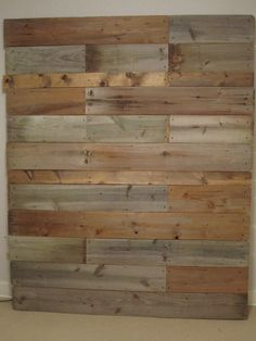 This is wonderful! A headboard made out of wood from the fence at her childhood home!
