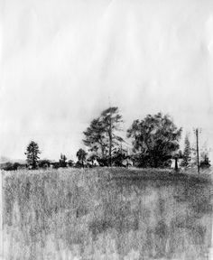 Charcoal Sketches Of Landscapes Landscape drawings 002 jpg
