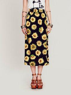Lax Floral Print Skirt