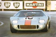 # 10 Ford GT40 of Paul Hawkins -David Hobbs a J.W. Engineering entry did not finish the 1968 24 Hrs. of Le Mans. From S. Stevens