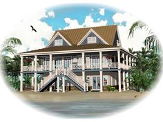 See the Howell Creek Raised Coastal Home that has 3 bedrooms, 2 full baths and 1 half bath from House Plans and More. See amenities for Plan Porch House Plans, Basement House Plans, Lake House Plans, House Plans And More, Bedroom House Plans, House Floor Plans, Southern Living House Plans, Coastal House Plans, Country House Plans