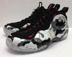 Nike Air Foamposite One - Black/Hyper Red/Dark Grey/White
