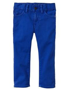 Colored skinny jeans for baby boy