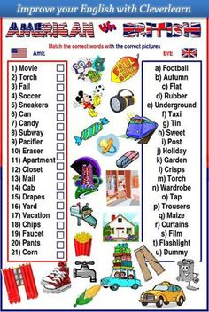 English for kids - American vs British #kids  Needs a little revision though.