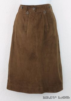 Ralph Lauren Blue Label Uber Soft Suede Leather Pencil Skirt #BirdyLane #RalphLaurenSuedeSkirt