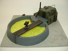 Universal Terrain™: Large Processing Plant With Toxic Storage Vat 25 - 28 mm Terrain