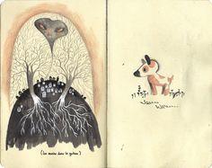 #sketchbook #moleskine Amélie Fléchais