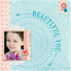 Mother's Day Album - Shelby 3 | Digital Scrapbook Gift Idea | One photo layout w/circles