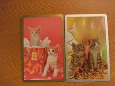 Vintage Playing Swap trading CardsParty Cats and Gift Cats 8 cards Great cards for personal invitiations on Etsy, $4.50 AUD