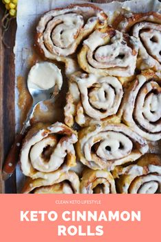 These keto cinnamon rolls are low-carb, gluten-free, and made with the most amazing keto brown butter icing you ever tasted! Cream Cheeses, Creme Brulee, Low Carb Desserts, Low Carb Recipes, Healthy Desserts, Ketogenic Diet, Dessert Ricotta, Crockpot, Granny's Recipe