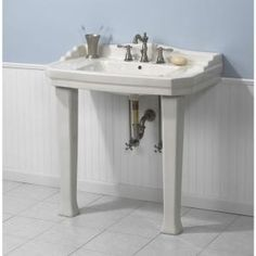Bon Foremost Series 1900 Console Lavatory And Pedestal Combo In  White FL 1900 8W At The Home Depot