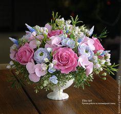 Купить В НАЛИЧИИ Букеты с мускариками - фуксия, букет, цветы, композиция из цветов