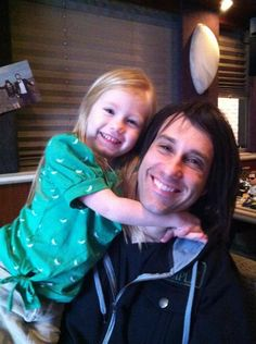 Kevin Young (from Christian band Disciple) and his daughter.