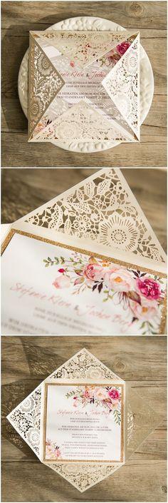We love these wedding invites by elegantweddinginvites