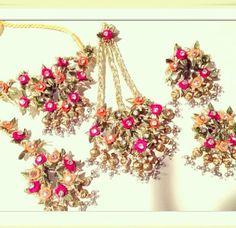 Gota Jewellery ....maybe for a mehendi ceremony