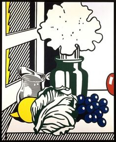 Find the latest shows, biography, and artworks for sale by Roy Lichtenstein. When American Pop artist Roy Lichtenstein painted Look Mickey in it set th… Pop Art Artists, Food Artists, Still Life Drawing, Still Life Art, Pop Art Food, Roy Lichtenstein Pop Art, Richard Hamilton, James Rosenquist, Industrial Paintings