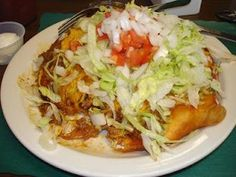 Indian Tacos.......I want to try this!! Frybread made from a sourdough starter!  I love Indian Tacos, but prefer a frybread made from yeast, rather than baking powder.
