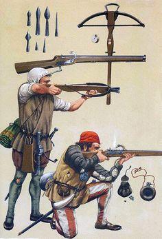 Spain / Battles, Knights - Ballestero y arcabucero de las tropas de Hernán Cortés