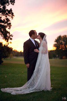 magical romantic wedding photography, sunset wedding photos, winston salem nc wedding photography