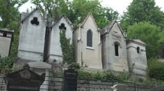 Père Lachaise Cemetery in Paris, France on a breezy summer's day.  21:05