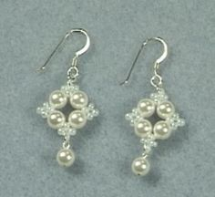 Picot Earrings Can't find tutorial/pattern for these, will have to work it out!